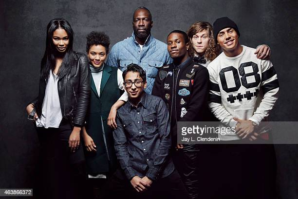 The cast of 'Dope' Chanel Iman Tony Revolori Quincy Brown Rick Famuyiwa Shameik Moore Kiersey Clemons and Blake Anderson poses for a portrait for the...