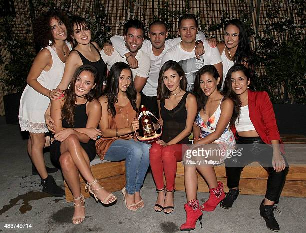 The cast of 'East Los High' top row Andrea Sixtos Vannessa Vasquez Oskar Rodriguez Gabriel Chavarria Rick Mancia Jes Meza bottom row Alexandrea...