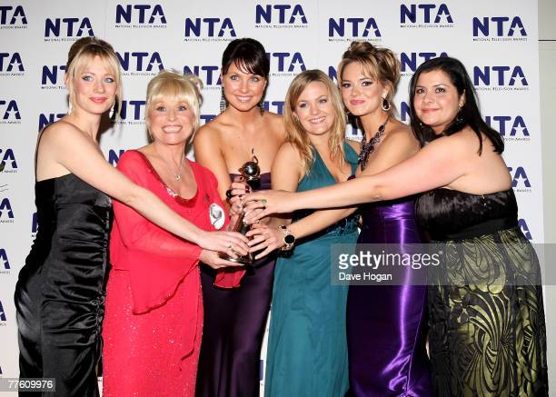 The cast of 'Eastenders' pose with the award for Most Popular Serial Drama at the National Television Awards 2007 at the Royal Albert Hall on October...