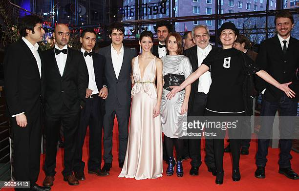 The cast of 'Eu Cand Vreau Sa Fluier Fluier' attend the Premiere during day three of the 60th Berlin International Film Festival at the Berlinale...
