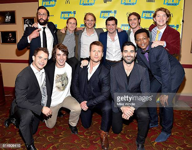 The cast of Everybody Wants Some attends the screening of their film during the 2016 SXSW Music Film Interactive Festival at Paramount Theatre on...