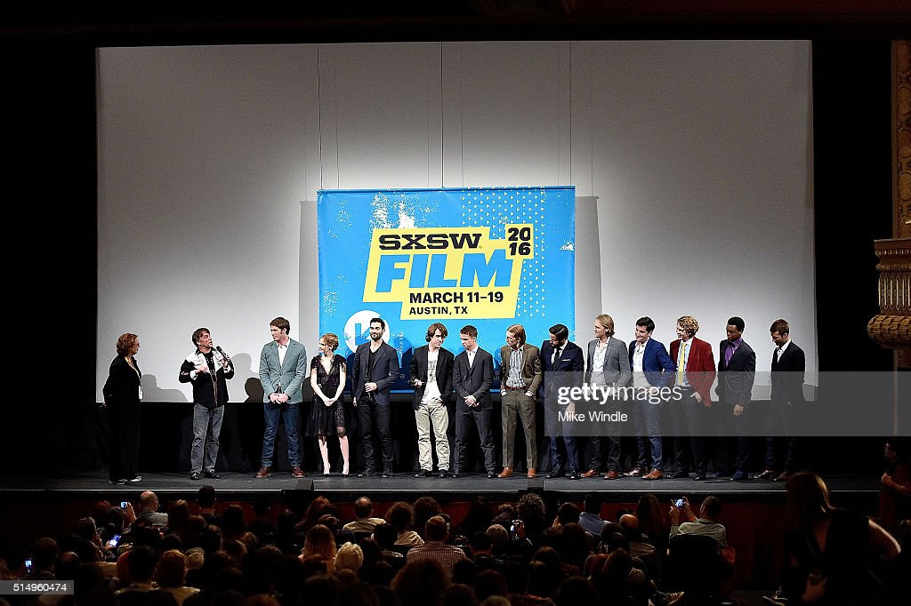 The cast of 'Everybody Wants Some' attends the screening of their film during the 2016 SXSW Music, Film + Interactive Festival at Paramount Theatre on March 11, 2016 in Austin, Texas.