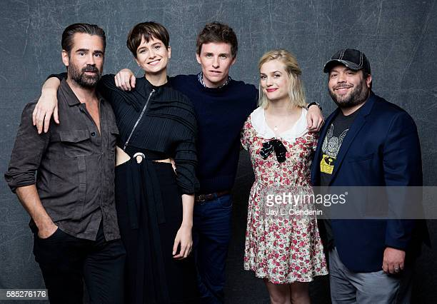 The cast of 'Fantastic Beasts and Where to Find Them' Colin Farrell Katherine Waterston Eddie Redmayne Alison Sudol and Dan Fogler are photographed...