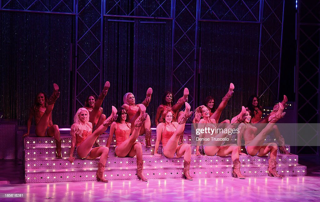 The cast of FANTASY performs during the FANTASY calendar launch at the Luxor Hotel and Casino on October 22, 2013 in Las Vegas, Nevada.