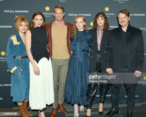 "The cast of ""For All Mankind"", including Sarah Jones, Shantel VanSanten, Joel Kinnaman, Wrenn Schmidt, Jodi Balfour, and Michael Dorman attend the..."