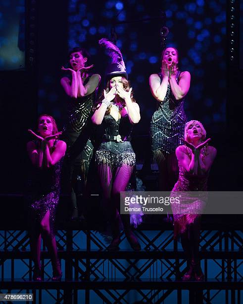 The cast of For The Record Baz Ginifer King Ruby Lewis Olivia Harris Briana Cuoco Amy Ryerson perform during opening night at Light Nightclub at the...