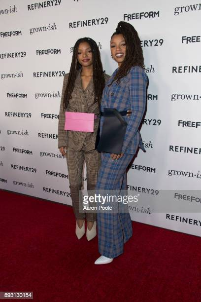 ISH The cast of Freeforms grownish celebrates at the Refinery29 screening for the series which premieres January 3 at 8pm HALLE