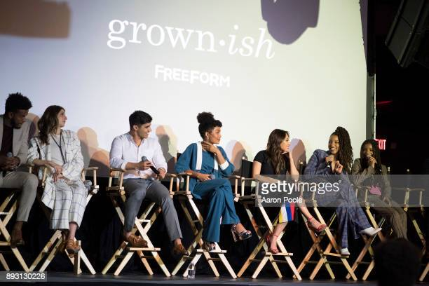 ISH The cast of Freeforms grownish celebrates at the Refinery29 screening for the series which premieres January 3 at 8pm TREVOR