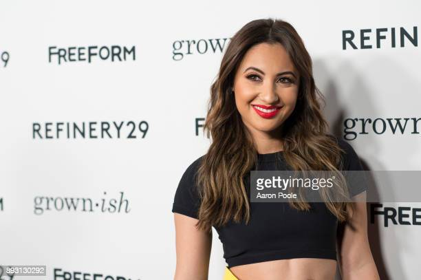 The cast of Freeforms grown-ish celebrates at the Refinery29 screening for the series which premieres January 3 at 8pm. FRANCIA RAISA