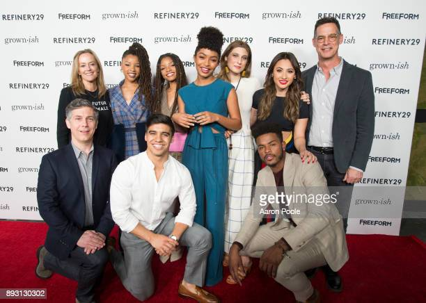 ISH The cast of Freeforms grownish celebrates at the Refinery29 screening for the series which premieres January 3 at 8pm CHRIS PARNELL KAREY BURKE...