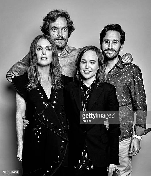 The cast of 'Freeheld actors Julianne Moore Michael Shannon Ellen Page and director Peter Sollett are photographed at the Toronto Film Festival for...