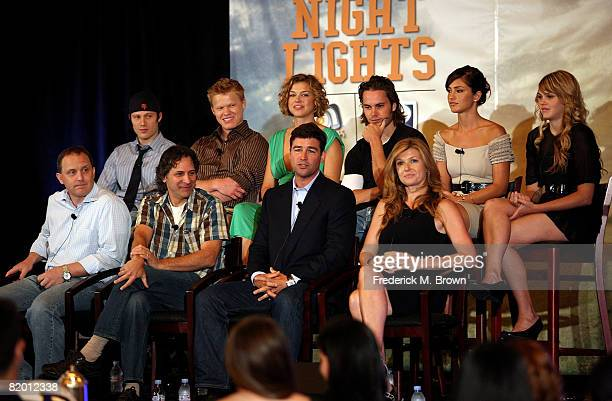 """The cast of """"Friday Night Lights"""" speak during day 13 of the DirecTV portion of NBC Universal 2008 Summer Television Critics Association Press Tour..."""