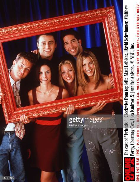 "The cast of ""Friends."" Clockwise from top left: Matt LeBlanc, David Schwimmer, Matthew Perry, Courteney Cox, Lisa Kudrow & Jennifer Aniston."