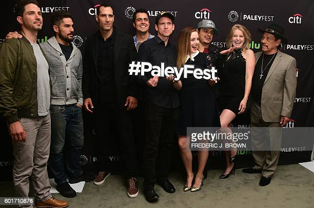 The cast of 'From Dusk Till Dawn' pose on arrival for the Paley Center For Media 's 10th annual PaleyFest fall TV previews in Beverly Hills...