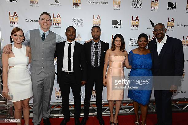 """The Cast of Fruitvale Station"""" Ahna O'Reilly, Kevin Durand, Ryan Coogler, Michael B. Jordan, Melonie Diaz, Octavia Spencer and Forest Whitaker arrive..."""