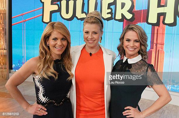 """The cast of """"Fuller House"""" visits """"THE VIEW,"""" 2/26/16 airing on the Walt Disney Television via Getty Images Television Network. CANDACE CAMERON BURE,..."""