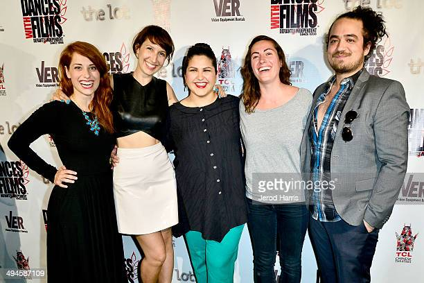 The cast of 'Gasp' Angela Gulner Annika Kurnick Derya Derman April Wolfe and Russell Cramer attend the 17th Annual Dances With Films Opening Night...