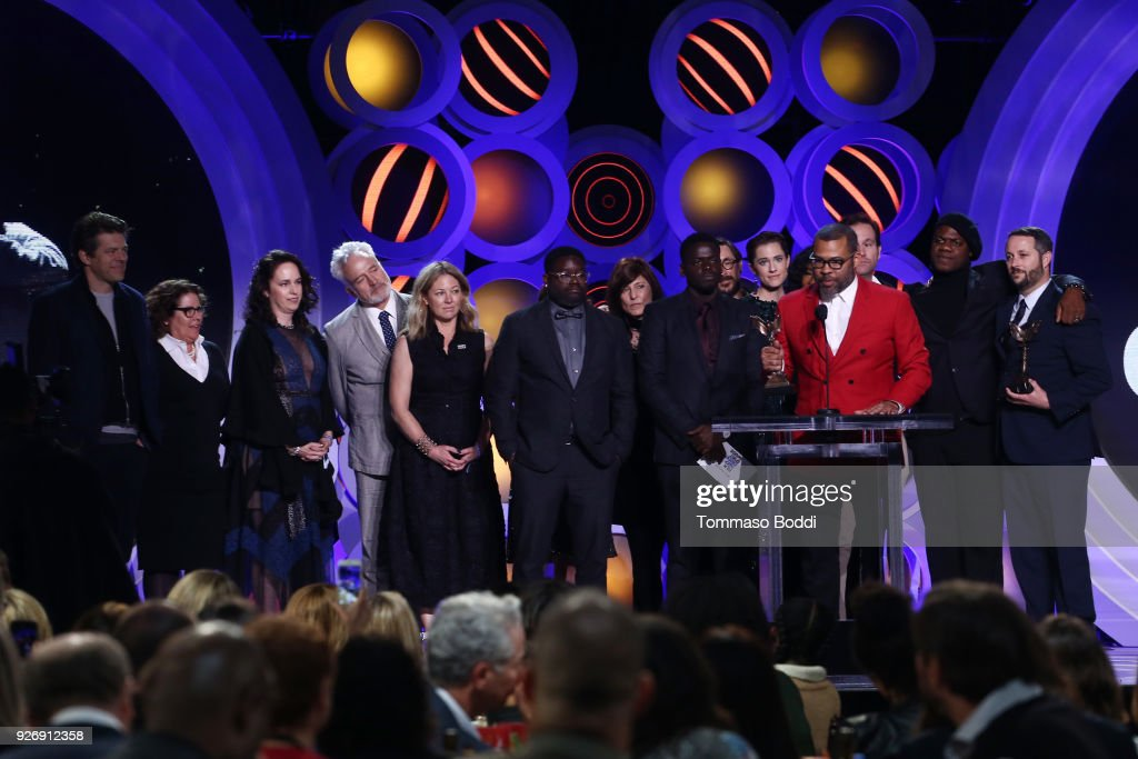 The cast of 'Get Out' accept the Best Feature award onstage during the 2018 Film Independent Spirit Awards on March 3, 2018 in Santa Monica, California.