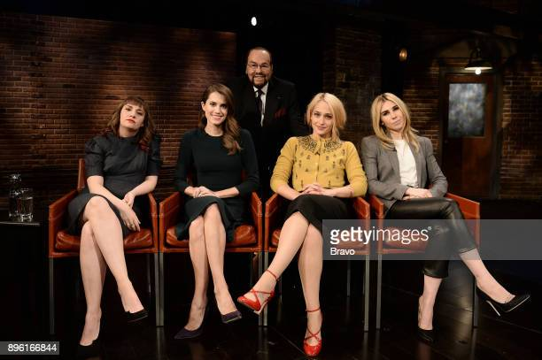 STUDIO The Cast of Girls Pictured Lena Dunham Allison Williams James Lipton Jemima Kirke Zosia Mamet