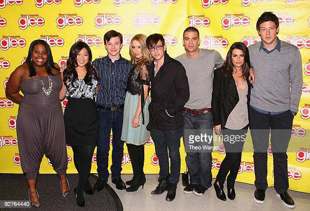 """The cast of """"Glee"""" - Amber Riley, Jenna Ushkowitz, Chris Colfer, Diana Agron, Kevin McHale, Mark Salling, Lea Michele and Cory Monteith attend the..."""