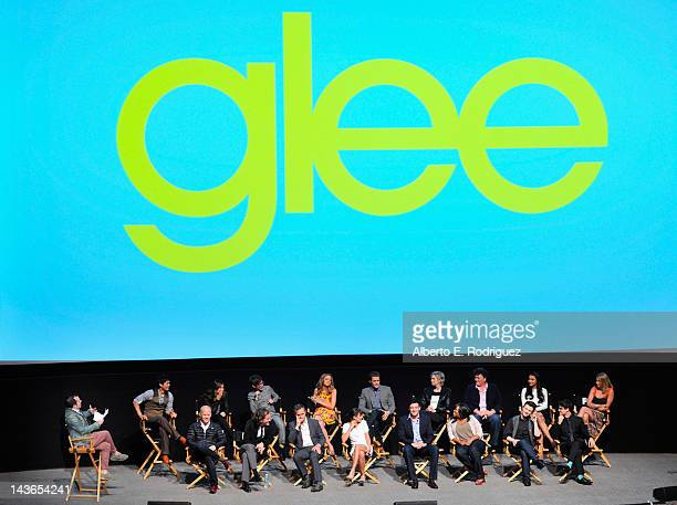 """The cast of Glee attends The Academy of Television Arts & Sciences' screening of Fox's """"Glee"""" at Leonard Goldenson Theatre on May 1, 2012 in North..."""