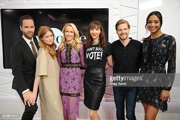 The cast of Good Girls Revolt Chris Diamantopoulos Genevieve Angelson Anna Camp Erin Drake Hunter Parrish and Rachel Smith appear On Amazon's Style...