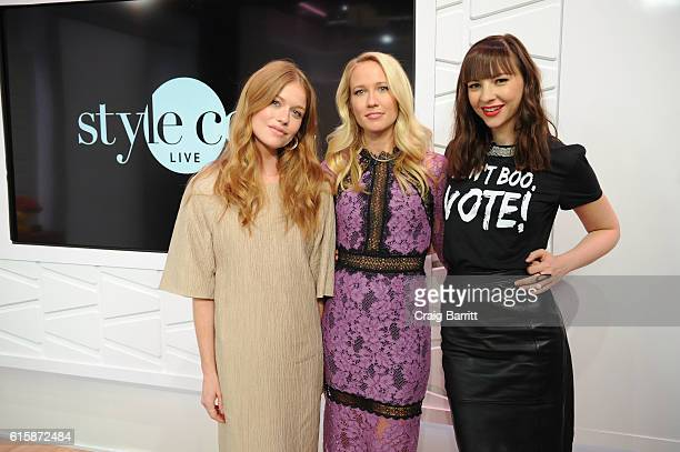 The cast of Good Girls Revolt Genevieve Angelson Anna Camp and Erin Drake appear On Amazon's Style Code Live on October 20 2016 in New York City