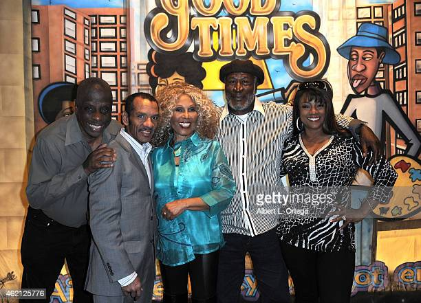 The cast of Good Times at The Hollywood Show held at The Westin Hotel LAX on January 24 2015 in Los Angeles California