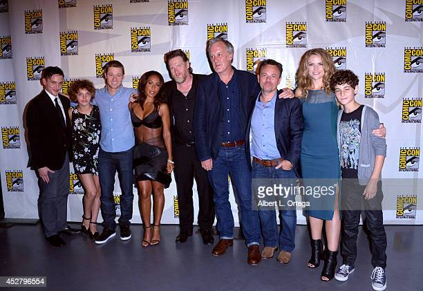 The cast of 'Gotham' attend Warner Bros Television DC Entertainment world premiere presentation during ComicCon International 2014 at San Diego...