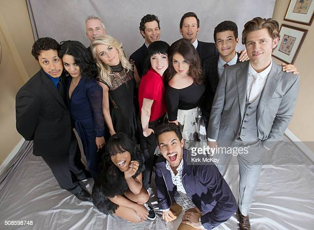 The cast of Grease Live Julianne Hough Keke Palmer Vanessa Hudgens Carly Rae Jepsen Aaron Tveit Thomas Kail Andrew Call David Del Rio Marc Platt...