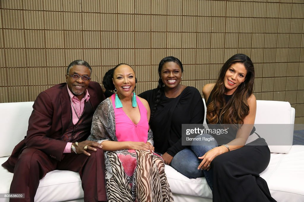 The cast of Greenleaf (L - R) Keith David, Lynn Whitfield, Deborah Joy Winans, and Merle Dandridge pose a picture backstage during the 2017 Essence Festival - Day 3 on July 2, 2017 in New Orleans, Louisiana.