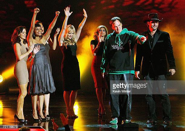 The cast of Grindhouse onstage during Spike TV's Scream Awards 2006 at the Pantages Theatre on October 7 2006 in Los Angeles California