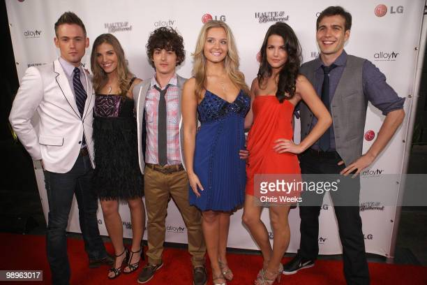 """The cast of """"Haute & Bothered"""" attend a party for """"Haute & Bothered"""" Season 2 hosted by LG Mobile at the Thompson Hotel on May 10, 2010 in Beverly..."""