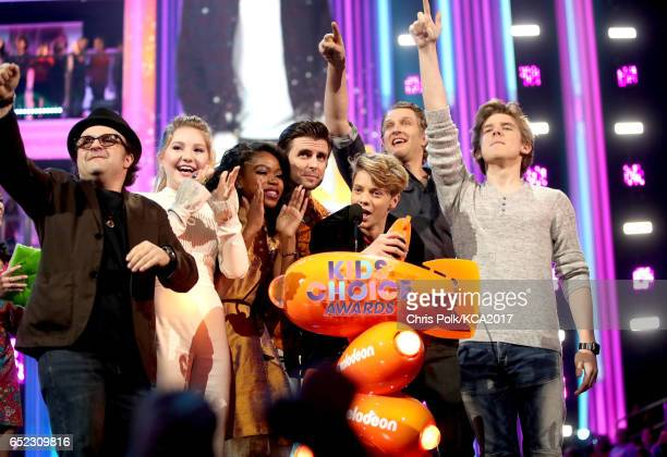 The cast of 'Henry Danger' accepts the award for Favorite TV Show at Nickelodeon's 2017 Kids' Choice Awards at USC Galen Center on March 11 2017 in...