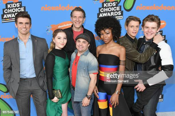 The cast of Henry Danger attends Nickelodeon's 2018 Kids' Choice Awards at The Forum on March 24 2018 in Inglewood California