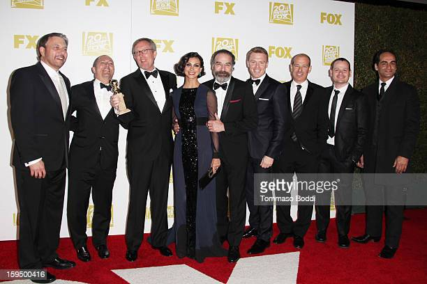 The cast of Homeland attend the FOX Golden Globe after party held at the FOX Pavilion at the Golden Globes on January 13 2013 in Beverly Hills...