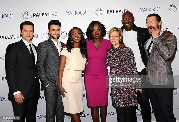 The cast of How to Get Away with Murder Matt McGorry Jack Falahee Aja Naomi King Viola Davis Liza Weil Billy Brown and Charlie Weber attend PaleyLive...