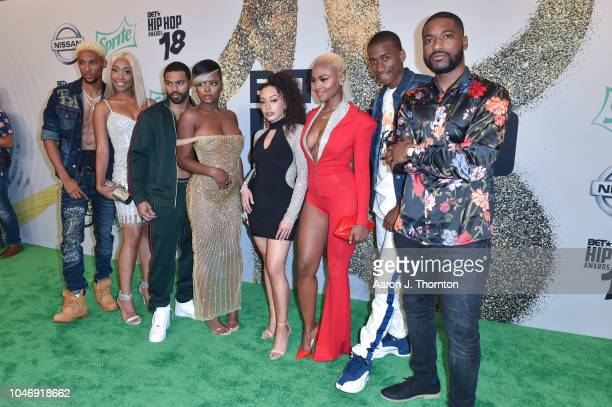 The cast of Hustle in Brooklyn arrives to the BET Hip Hop Awards at the Fillmore Miami Beach on October 6 2018 in Miami Beach Florida