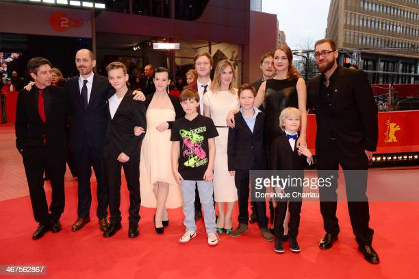 The cast of 'Jack' attend the premiere during 64th Berlinale International Film Festival at Berlinale Palast on February 7 2014 in Berlin Germany