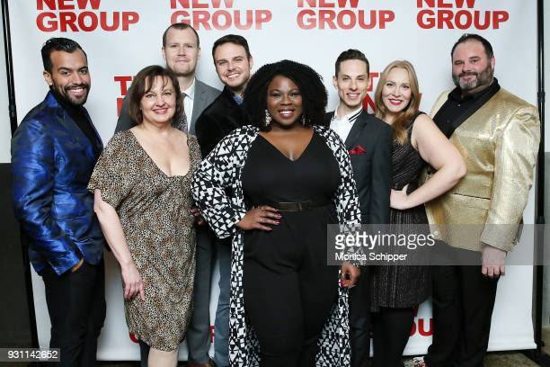The cast of Jerry Springer The Opera attend The New Group 2018 Gala at Tribeca Rooftop on March 12 2018 in New York City