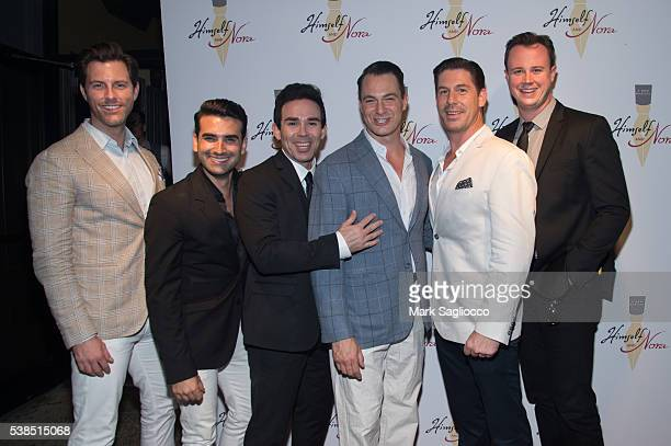 The cast of 'Jersey Boys' Michael Lomenda Mauricio Perez Dominic Scaglione Jr Matt Bogart Richard Blake and Quinn Vanantwerp attend the 'Himself And...