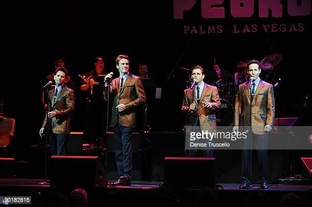The cast of Jersey Boys performs at the Michael Jackson Tribute at The Pearl at The Palms Casino Resort on August 29 2009 in Las Vegas Nevada