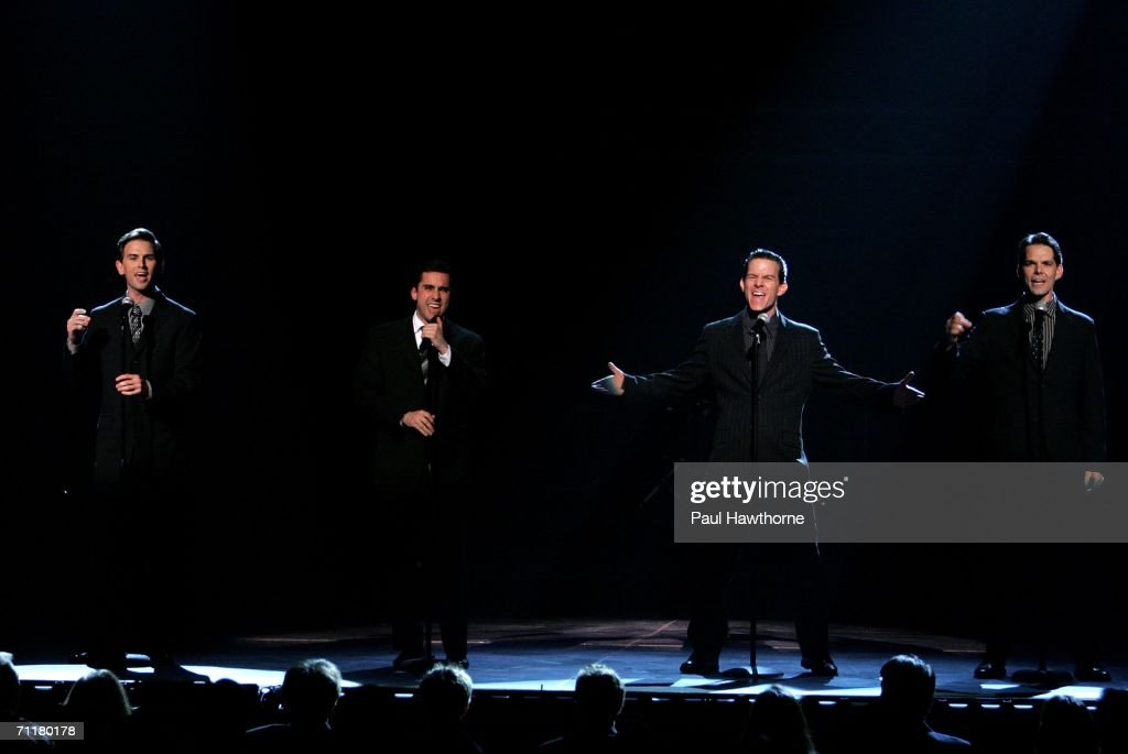 The cast of Jersey Boys performs onstage at the 60th Annual Tony Awards at Radio City Music Hall June 11, 2006 in New York City.
