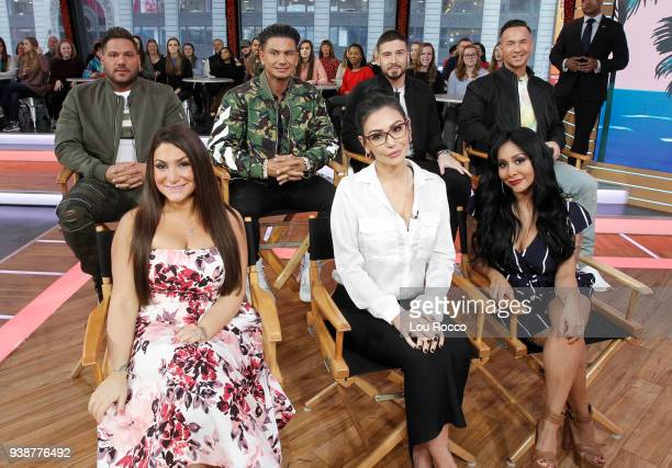"""The cast of """"Jersey Shore"""" are guests on """"Good Morning America,"""" Tuesday, March 27 airing on the Walt Disney Television via Getty Images Television..."""