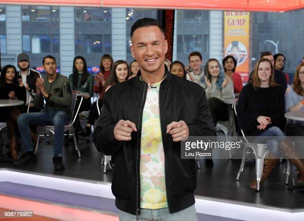 "The cast of ""Jersey Shore"" are guests on ""Good Morning America,"" Tuesday, March 27 airing on the Walt Disney Television via Getty Images Television..."