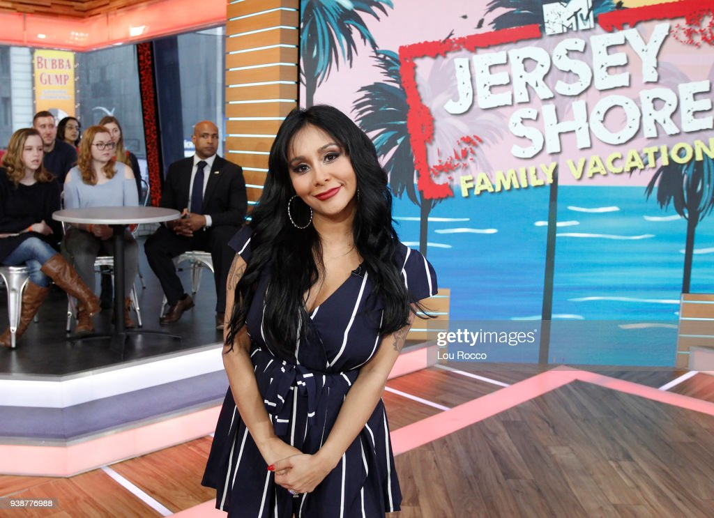 AMERICA - The cast of 'Jersey Shore' are guests on 'Good Morning America,' Tuesday, March 27, 2018, airing on the ABC Television Network. NICOLE (SNOOKI) POLIZZI