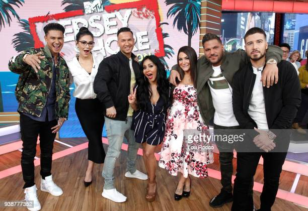 AMERICA The cast of Jersey Shore are guests on Good Morning America Tuesday March 27 airing on the Walt Disney Television via Getty Images Television...