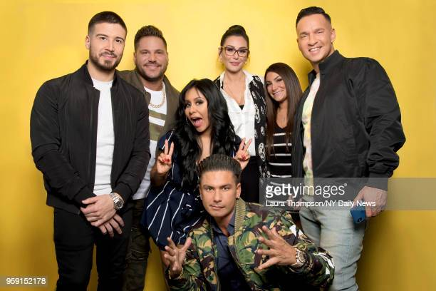 "The cast of Jersey Shore Family Vacation, l-r: Vinny Guadagnino, Ronnie Ortiz-Magro, Nicole ""Snooki"" Polizzi, Paul ""DJ Pauly D"" DelVecchio, Jenni..."