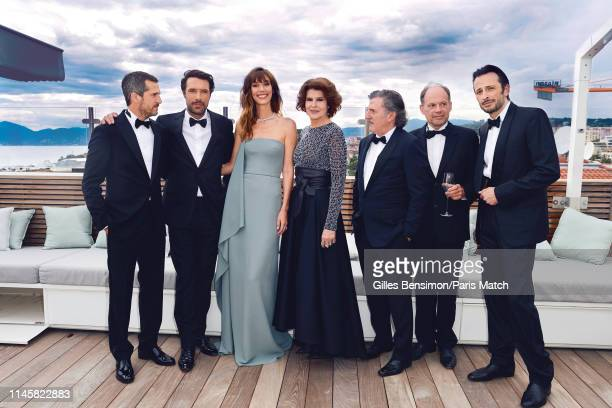 The cast of La Belle Epoque with film director Guillaume Canet and actors Nicolas Bedos Doria Tillier Fanny Ardant Daniel Auteuil Denis Podalydes and...