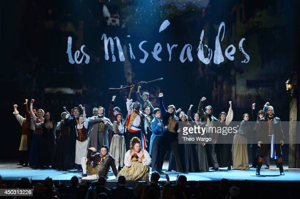 The cast of Les Miserables performs onstage during the 68th Annual Tony Awards at Radio City Music Hall on June 8 2014 in New York City